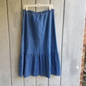Vintage Skirts - Denim button down skirt